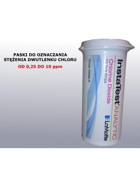 Paski do oznaczania stężenia dwutlenku chloru, ClO2